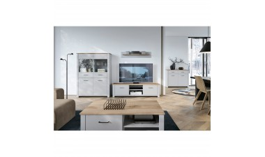 solid-furniture - Gray GWT115 Cabinet - 2
