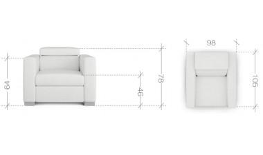 upholstered-furniture - Vena Armchair - 4