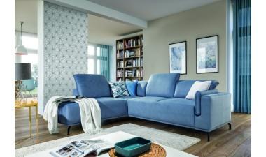 furniture-shop - GUSTO left side Velvet S43 dark green - 7