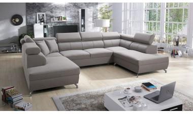 corner-sofa-beds - Veneto X Malia Pacific/Calgary Cool White - 1