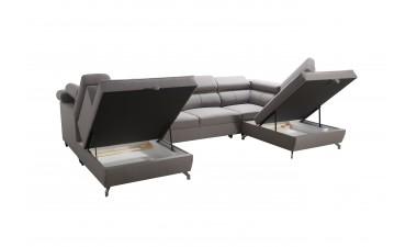 corner-sofa-beds - Veneto X Malia Pacific/Calgary Cool White - 2