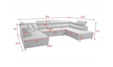corner-sofa-beds - Veneto X Malia Pacific/Calgary Cool White - 3
