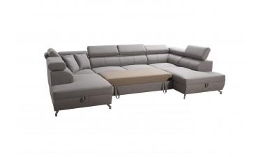 corner-sofa-beds - Veneto X Malia Pacific/Calgary Cool White - 6