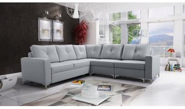 corner-sofa-beds - ADONIS III left side all in Graceland Cream
