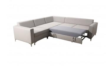 corner-sofa-beds - ADONIS III left side all in Graceland Cream - 2