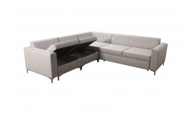 corner-sofa-beds - ADONIS III left side all in Graceland Cream - 3