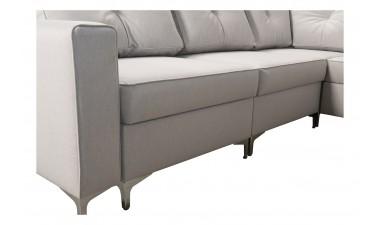 corner-sofa-beds - ADONIS III left side all in Graceland Cream - 6