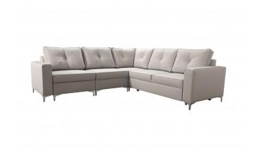 corner-sofa-beds - ADONIS III left side all in Graceland Cream - 8