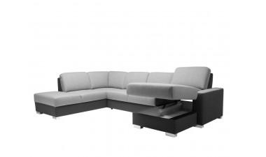 corner-sofa-beds - Klara 1 right side all in Sierra Storm - 2