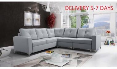corner-sofa-beds - ADONIS III left side all in Graceland Cream