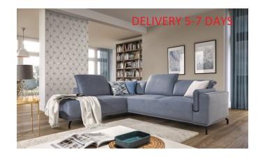 furniture-shop - GUSTO left side Velvet S43 dark green - 9