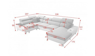 u-shaped-corner-sofa-beds - Modivo IV Mini - 9