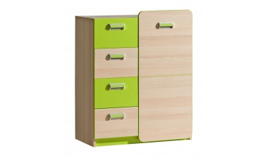 kids-and-teens-chest-of-drawers - Hugo L6 Chest of Drawers - 1