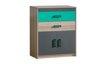 kids-and-teens-chest-of-drawers - Oliver U6 Chest of Drawers - 1