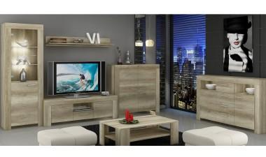 tv-units - Roni SRTV155 TV Unit with Wall Shelf - 2