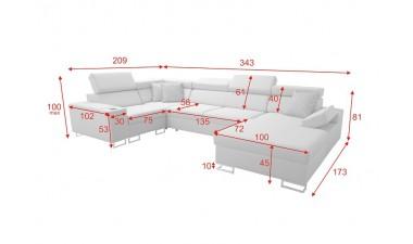 u-shaped-corner-sofa-beds - Salvato IV Mini - 3