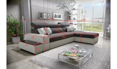 corner-sofa-beds - Silver - 2