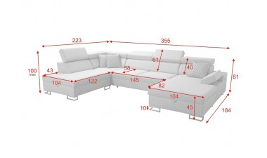 u-shaped-corner-sofa-beds - Salvato VI - 6