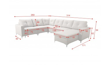 corner-sofa-beds - ADONIS V Right Corner - 4