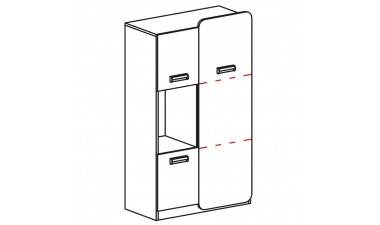 kids-and-teens-wardrobes - Hugo L5 Cabinet - 2