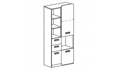 kids-and-teens-wardrobes - Hugo L7 Cabinet - 2