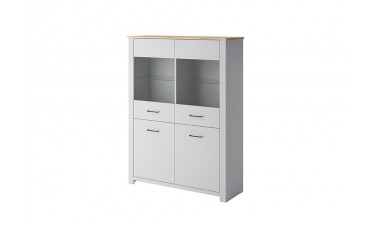 solid-furniture - Gray GWT115 Cabinet - 1