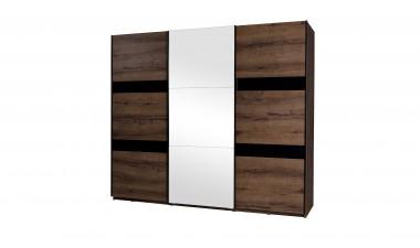 solid-furniture - Baden D SZ250 Wardrobe With Mirror - 1