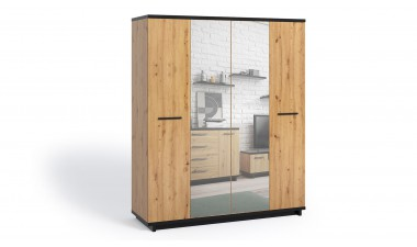 furniture-shop - Ina IN SZ4D Wardrobe With Mirror - 1